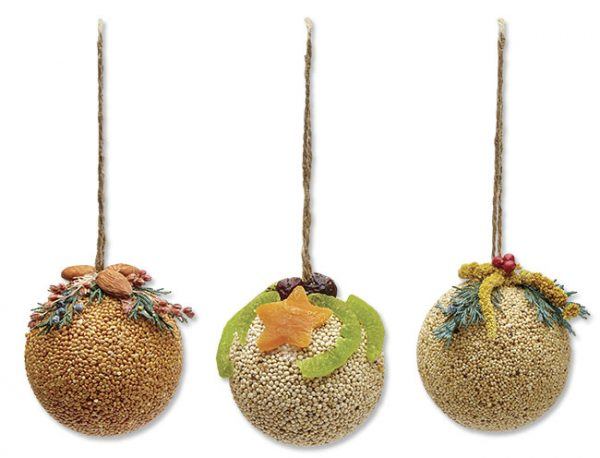 Fruit Ornament Ball Trio